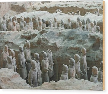 Wood Print featuring the photograph Terracotta Army by Kay Gilley