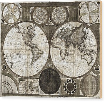 Terraqueous Globe - Map Of The World Wood Print by EricaMaxine  Price