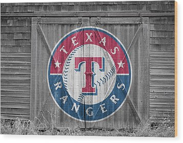 Texas Rangers Wood Print by Joe Hamilton