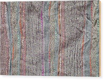 Textile Background Wood Print by Tom Gowanlock