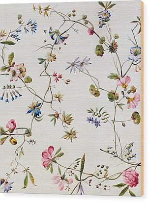 Textile Design Wood Print by William Kilburn