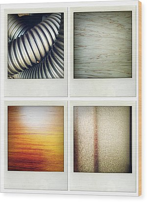 Textures Wood Print by Les Cunliffe