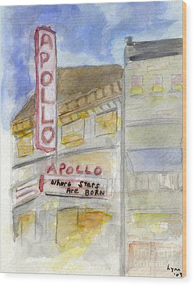 The Apollo Theatre Wood Print