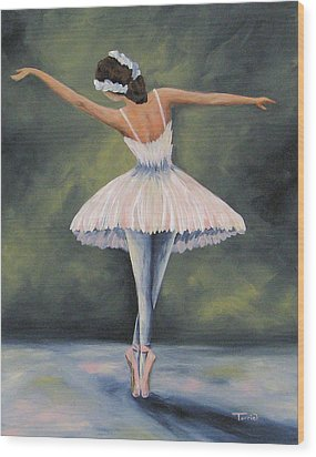 The Ballerina Iv Wood Print