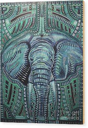 The Beast Wood Print by Michael Kulick