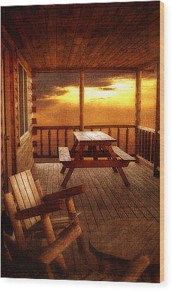 The Cabin Wood Print by Joann Vitali