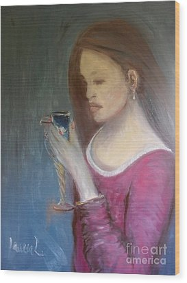 Wood Print featuring the painting The Chalice by Laurie L