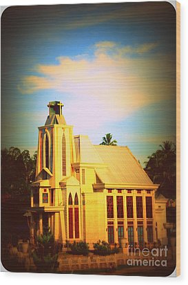 Wood Print featuring the photograph The Church In My Village by Jason Sentuf