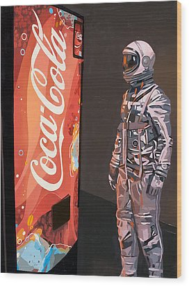 The Coke Machine Wood Print by Scott Listfield