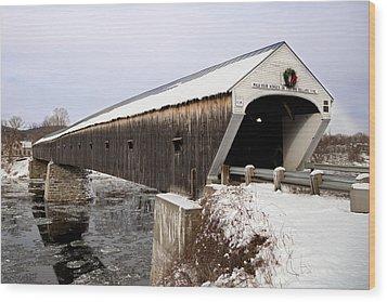 The Covered Bridge Wood Print