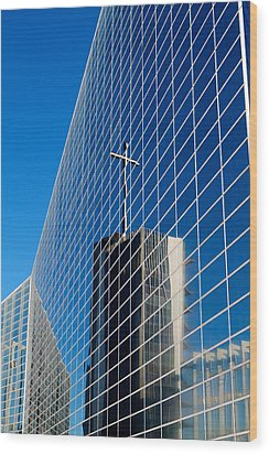 Wood Print featuring the photograph The Crystal Cathedral by Duncan Selby