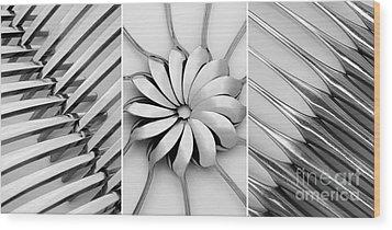 The Cutlery Set Wood Print by Natalie Kinnear