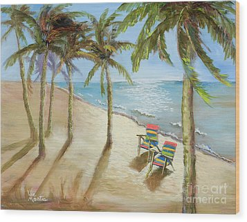 Wood Print featuring the painting The Get-away by Vic  Mastis