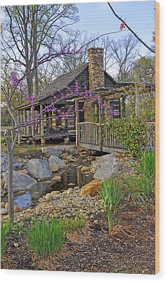 The Historic Gosnell Log Cabin  Mauldin Sc Wood Print