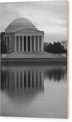Wood Print featuring the photograph The Jefferson Memorial by Cora Wandel