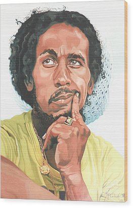 The King Of Reggae Wood Print by Max CALLENDER