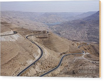 The Kings Highway At Wadi Mujib Jordan Wood Print by Robert Preston