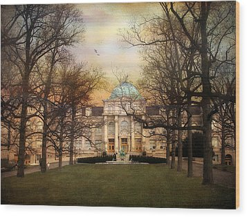 The Library Wood Print by Jessica Jenney