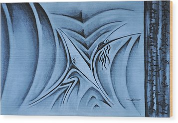 The Lift Wood Print by Matthew Blum