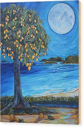 The Mango Tree Wood Print by Patti Schermerhorn