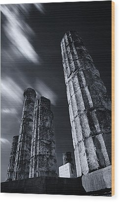 Wood Print featuring the photograph The Pillars Of Apollo's Temple by Micah Goff