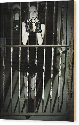 The Prisoner Wood Print by Jim Poulos