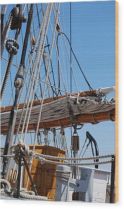 Wood Print featuring the photograph The Sail by Ramona Whiteaker