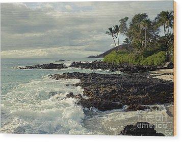 The Sea Wood Print by Sharon Mau