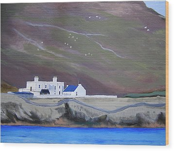 The Shore Station At Burrafirth Wood Print