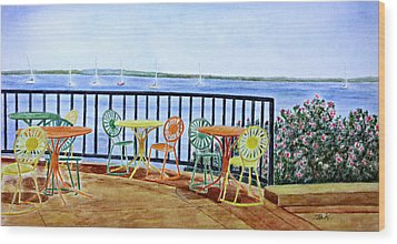 The Terrace View Wood Print by Thomas Kuchenbecker