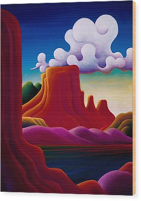 The Tomb Lake Powell Wood Print by Richard Dennis