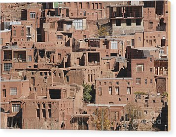 The Village Of Abyaneh In Iran Wood Print by Robert Preston