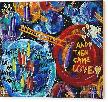 Wood Print featuring the painting Then Came Love by Jackie Carpenter