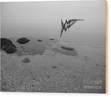 Tidal Trap Wood Print by Robert Riordan