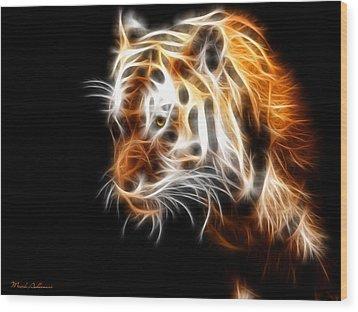 Tiger  Wood Print by Mark Ashkenazi