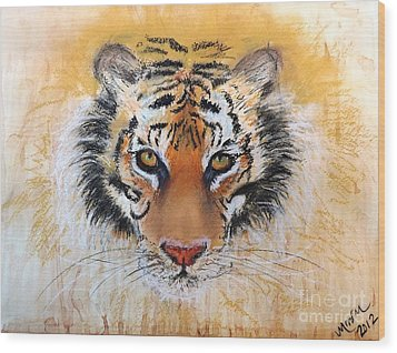 Tiger Tiger Wood Print by Michelle Wolff