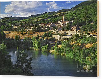 Town Of Sisteron In Provence Wood Print by Elena Elisseeva