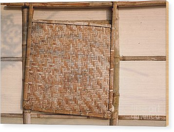 Traditional Chinese Bamboo Structure Wood Print by Yali Shi