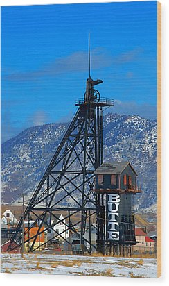 Travona Mine  Wood Print