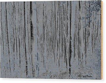 Tree People Wood Print by Jeremy Rhoades