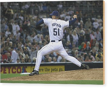 Trevor Hoffman Wood Print by Don Olea