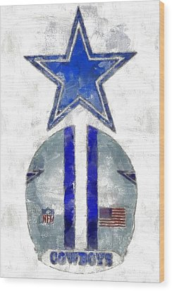 True Blue Wood Print by Carrie OBrien Sibley