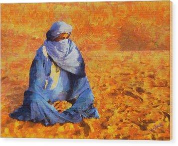 Tuareg 2 Wood Print by George Rossidis