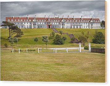 Turnberry Resort Wood Print by Eunice Gibb