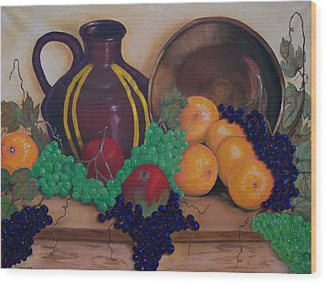 Wood Print featuring the painting Tuscany Treats by Sharon Duguay
