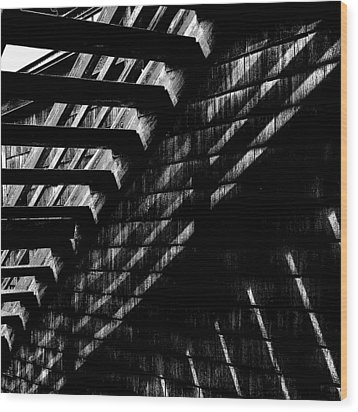 Under The Stairs Wood Print by David Patterson