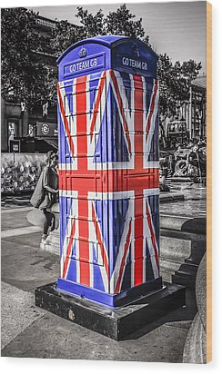 Union Jack Phone Wood Print