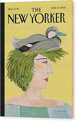 New Yorker March 14th, 2005 Wood Print by Maira Kalman