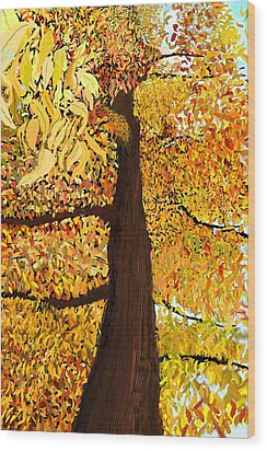 Up Tree Wood Print