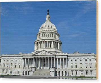 Us Capitol Building Wood Print